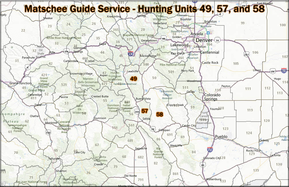 Matschee Guide Service LLC Colorado Outfitter Hunting Guides - Colorado hunting zone map